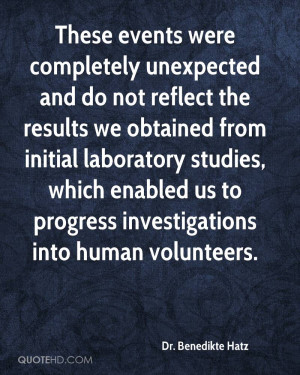 ... , which enabled us to progress investigations into human volunteers