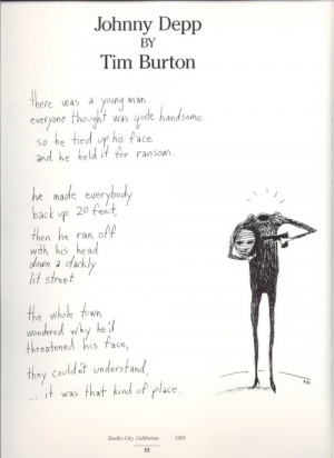 Tim Burton Writes a Poem About Johnny