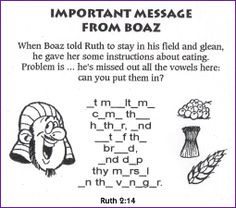 Ruth 2:14 Fill in the blank BibleWise - Kids Korner: Fun and Games ...
