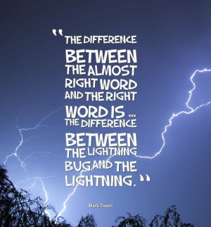 ... bug and the lightening.