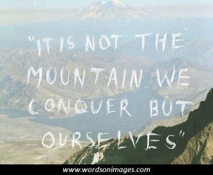 Mountain climbing quotes