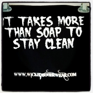 ... Center gift shop, recovery gifts; stay clean t-shirt, sober t-shirts