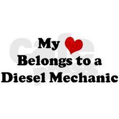 Heart Belongs: Diesel Mechani Bumper Bumper Sticker on