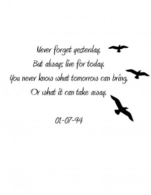 In Memory Tattoo Quotes Memory tattoo.