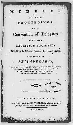 Minutes of Early Anti-Slavery Meeting
