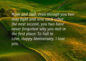 ... in the first place: To Fall In Love. Happy Anniversary. I love you