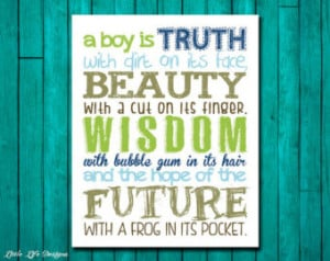 Boy is Truth with dirt on its fac e. Little Boys Wall Art. Boy ...