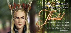Portrait Head Sculpt of Thranduil Elvenking (King of Mirkwood) as ...