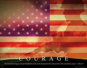 Courage RELG05 US Army Marines Soldier Military Motivational Poster ...