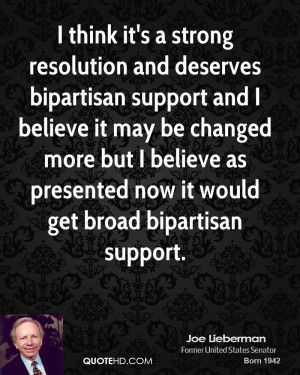think it's a strong resolution and deserves bipartisan support and I ...