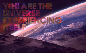 Outer space quotes earth typography wallpaper background
