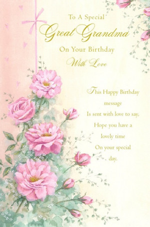 Happy Birthday Grandma Quotes Poems Great grandma happy birthday