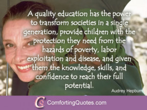 Audrey Hepburn Quotes on Education – Picture Quote