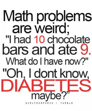 chocolate, diabetes , funny, lol, math - inspiring picture on Favim ...