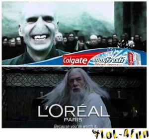 Lord of the Rings + Harry Potter - advertising time