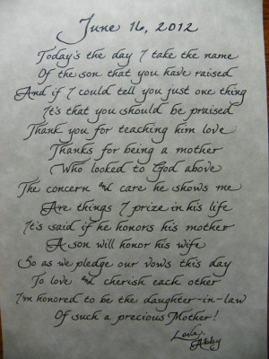 Mother In Law Poems. Facebook Quotes Mother In Law. View Original ...