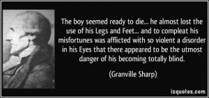 The boy seemed ready to die... he almost lost the use of his Legs and ...