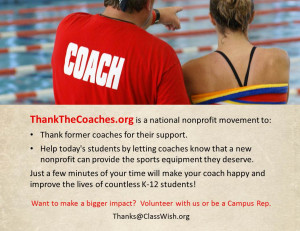 ... the word about this campaign to help more coaches and students