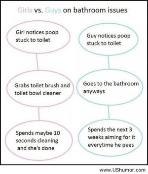 Girls and guys on bathroom US Humor - Funny pictures, Quotes, Pics ...