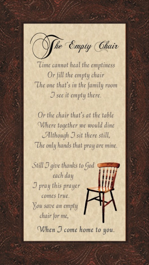 The Empty Chair poem