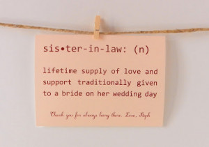 5x7 Typography Art, Art Sayings, Family Word Art, Sister In Law