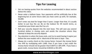 Car lease quotes