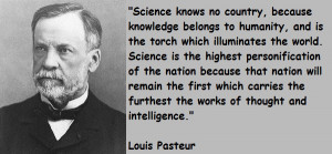 quotation by Pasteur