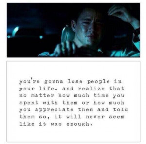You're gonna lose people in your life
