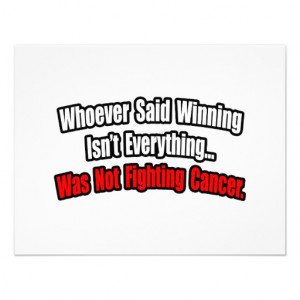 Cancer Fighting Quote Invitation