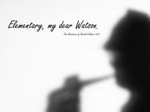 Elementary, my dear Watson. The Adventures of Sherlock Holmes, 1929