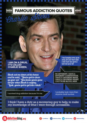 Charlie Sheen quotes on drugs and alcohol (INFOGRAPHIC)
