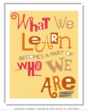 ... Quote About Learning. Gift For Teacher Appreciation. Classroom Decor