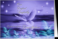 Our Deepest Sympathy ~ Loss of Grandfather ~ Dove In Blue Tones card ...