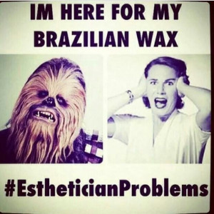Brazilian wax funny!! HELLO HOLLAR~~~ Chewbacca in the house!!! LMAO ...