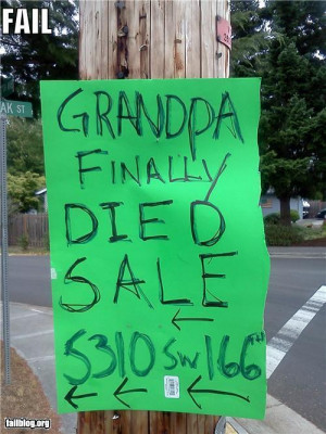 yard sale funny quotes