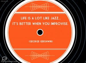 Life Like Jazz Wow Words Postcard