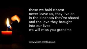 grandma saying goodbye death quotes quotesgram