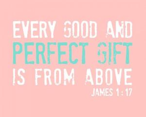 Baby Girl Wall Art Print Bible Quote, Scripture Nursery Art Typography ...
