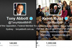 Rudd and Abbott Twitter accounts