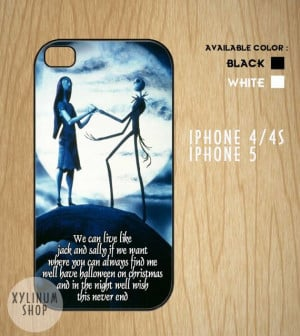 Jack skeleton and selly love quotes Case Available for by XYLINUM