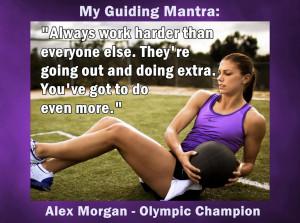 Alex Morgan Team USA Soccer Photo Quote Mini Poster Wall Art Print ...