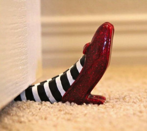 Ruby slippers wizard of oz quotes quotesgram - Wizard of oz doorstop ...