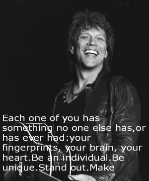 black and white jon bon jovi quote