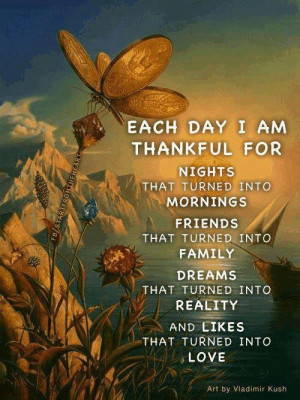 Each day I am thankful for