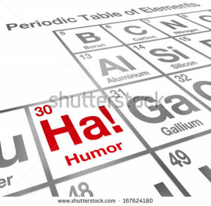 Element Humor Periodic Table Funny Laughter Stock Photo