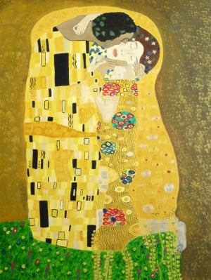 Le baiser de Gustav Klimt ma copie enfin finie