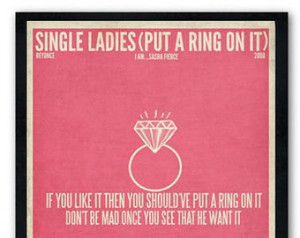Single Ladies Beyonce Quotes Single ladies (put a ring on