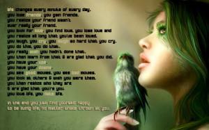 women birds text quotes soul calibur iv 1680x1050 wallpaper People ...