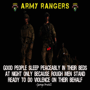 """Home / ARMY POSTERS / Army Rangers Poster """"Rough Men Stand Ready"""""""