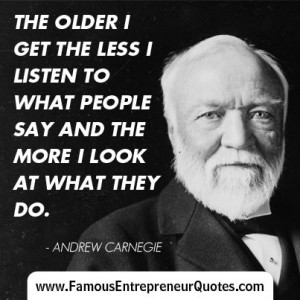 Quotes About Andrew Carnegie